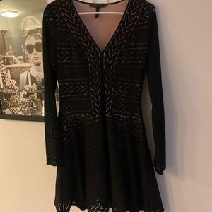 BCBG Black and Tan dress